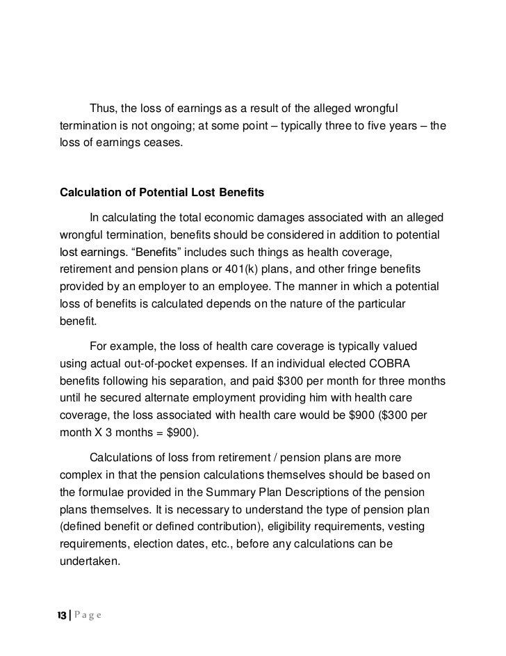 wrongful termination letter