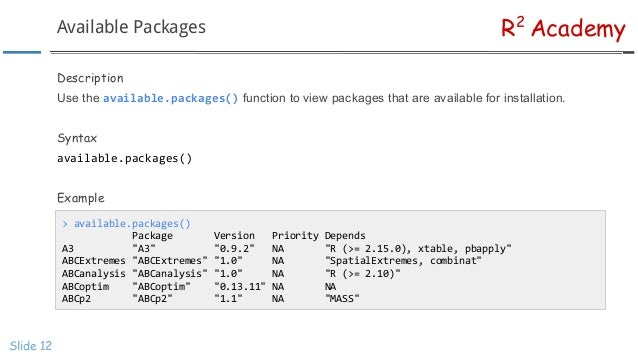 R Programming: Introduction To R Packages