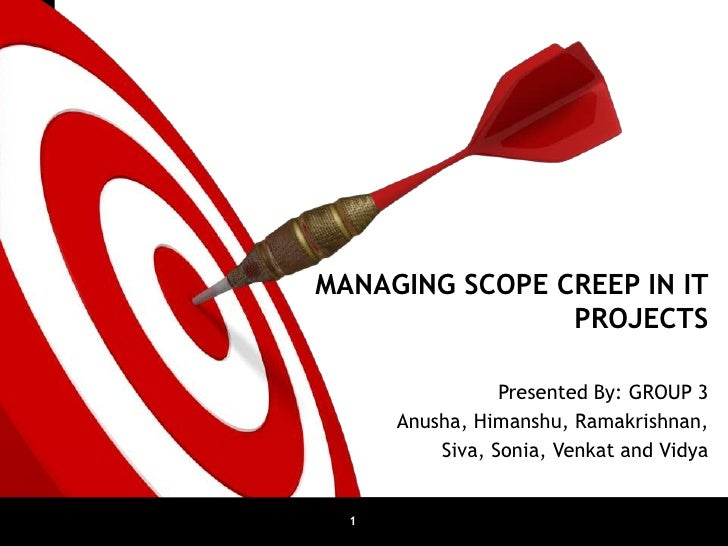 MANAGING SCOPE CREEP IN IT                            PROJECTS                             Presented By: GROUP 3          ...
