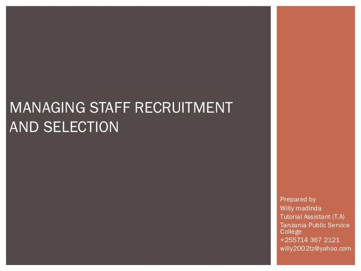 Employee Recruitment and Selection U3