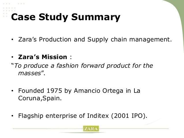 analyzing zara s supply chain