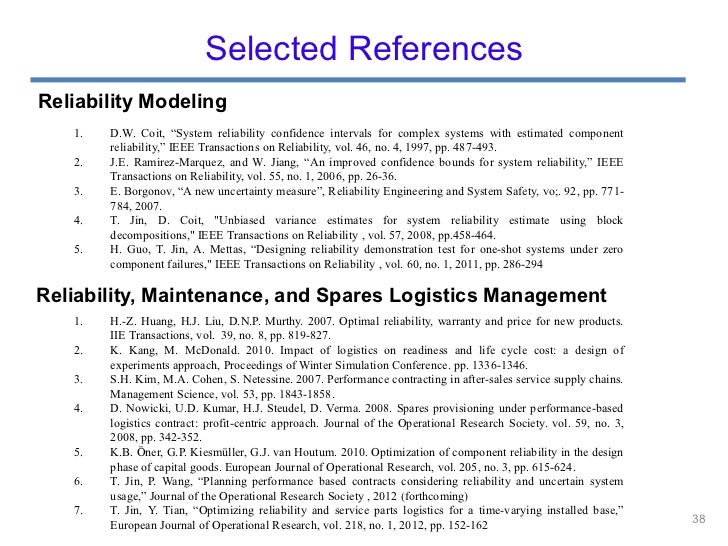 Managing system reliability and maintenance under ...