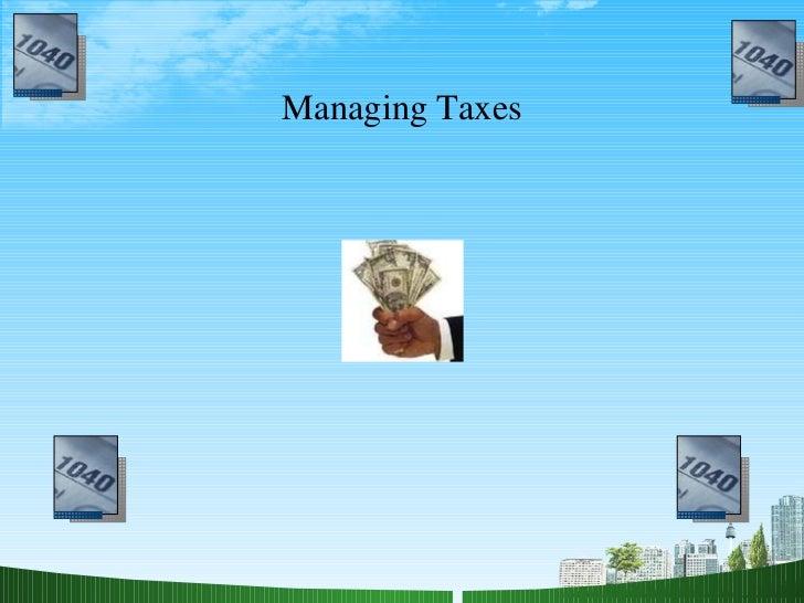 Managing Taxes