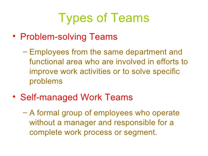self managed team Though self-managed teams are most important there are some very important advantages and disadvantages of self-managed teams which are described here.