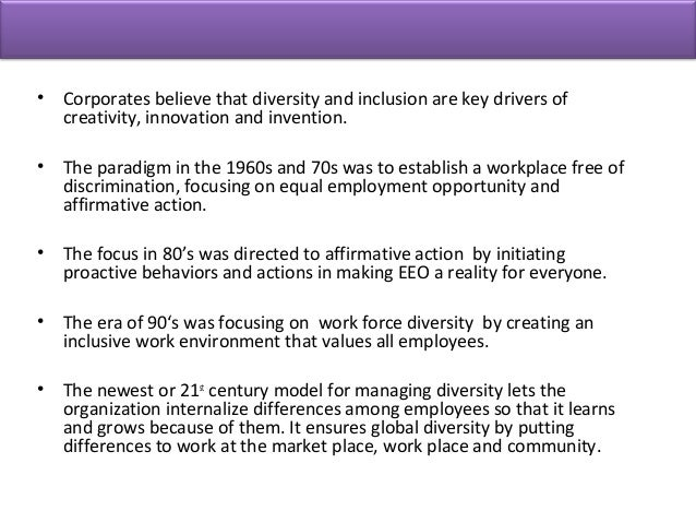 an introduction to the analysis of workforce diversity Abstract: to analyze the moderating affect of management between workforce  diversity and performance of the students and to  key words: workforce  diversity management student's performance introduction different.