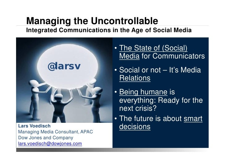 Managing the Uncontrollable   Integrated Communications in the Age of Social Media                                        ...