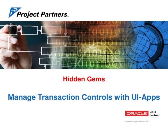 Maintain Transaction Controls for Oracle EBS Projects using
