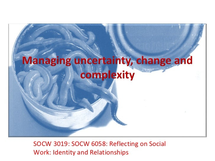 SOCW 3019: SOCW 6058: Reflecting on Social Work: Identity and Relationships