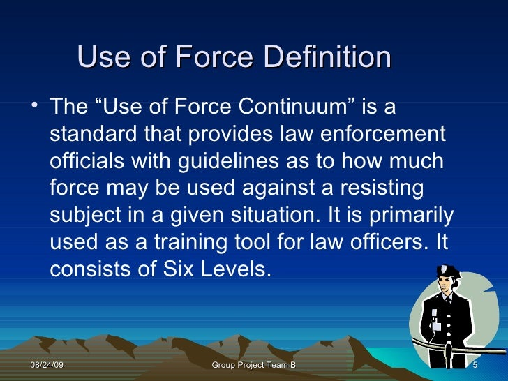 use of force For decades, the iacp has played a central role in the research, development, and implementation of model policies and best practices regarding the use of force by law enforcement officers.