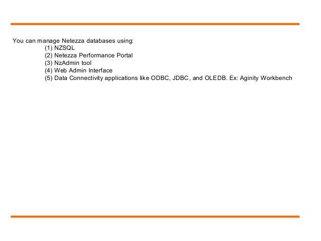 aginity netezza workbench documentation