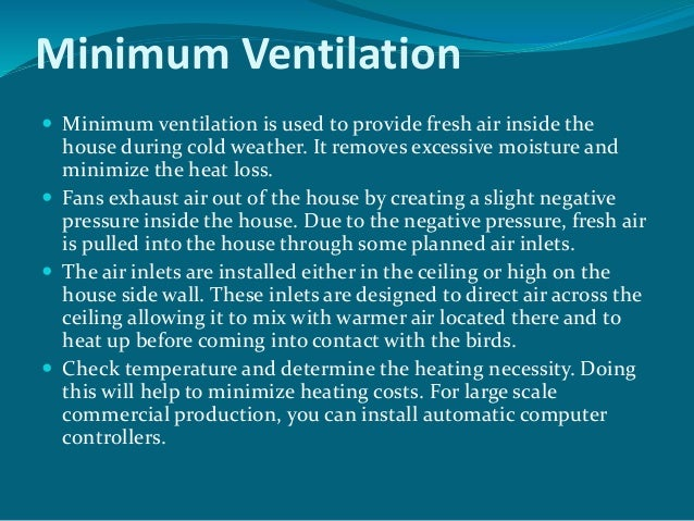 Managing Ventilation In Modern Poultry House