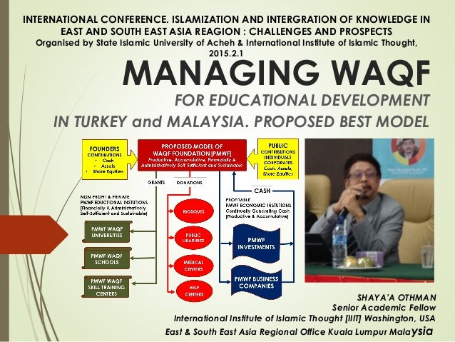 MANAGING WAQF FOR EDUCATIONAL DEVELOPMENT IN TURKEY and MALAYSIA. PROPOSED BEST MODEL SHAYA'A OTHMAN Senior Academic Fello...