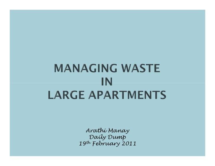 Arathi Manay    Daily Dump19th February 2011