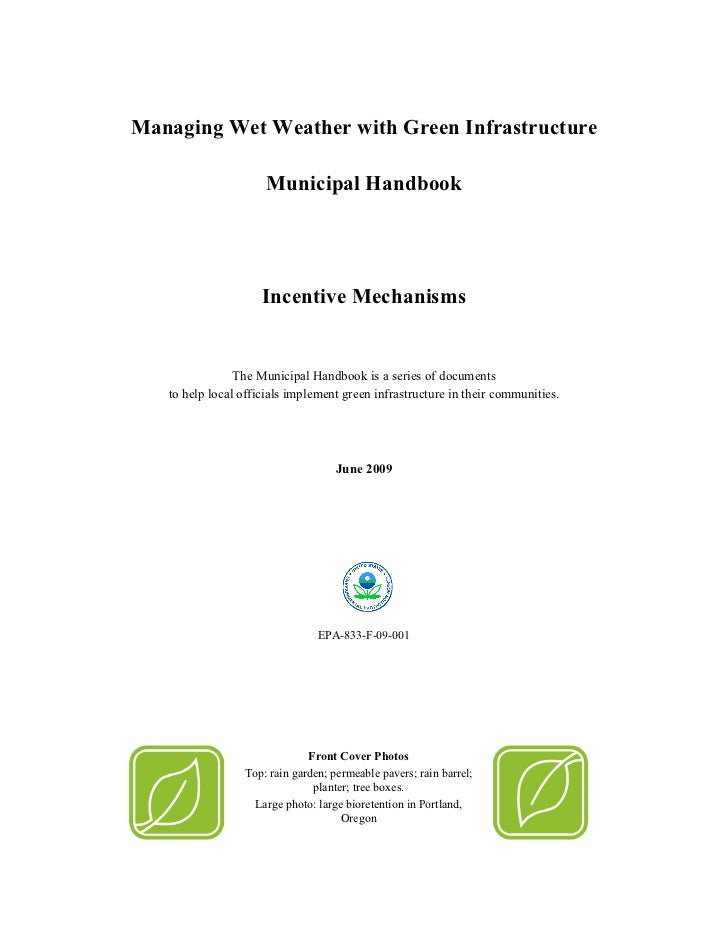 Yes Green Infrastructure: Managing Wet Weather With Green Infrastructure: Municipal