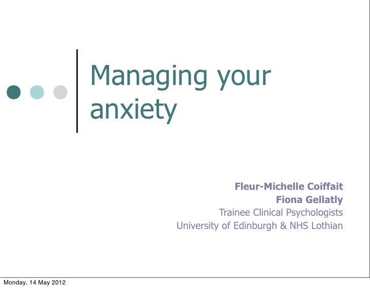 Managing your                      anxiety                                          Fleur-Michelle Coiffait               ...