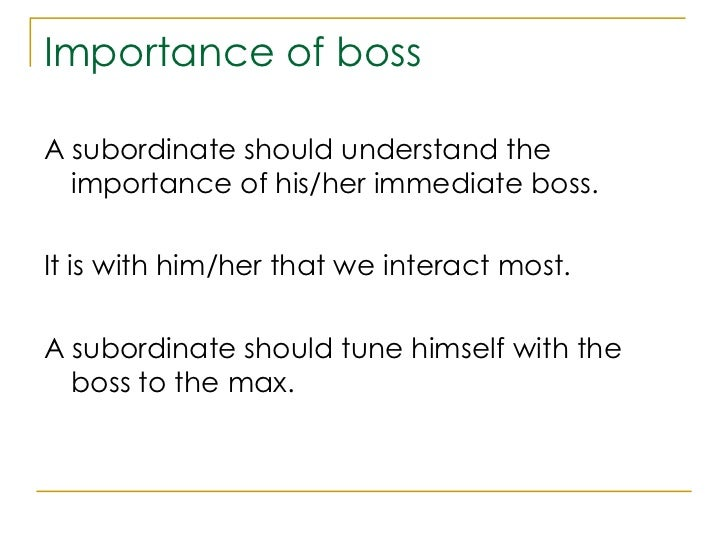 managing your boss Working out what kind of boss you have is a bit like going on a date you are finding out what makes them tick, says sandi mann, senior lecturer in occupational psychology at the university of central lancashire and author of managing your boss types of manager range from the boss who wants to follow every stage of.