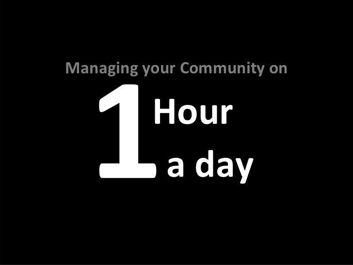 ManagingyourCommunityon          Hour           aday
