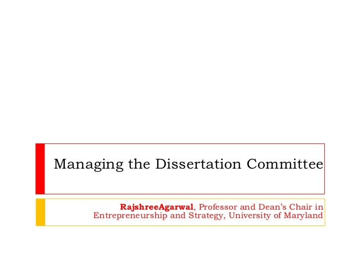 Choose dissertation committee members