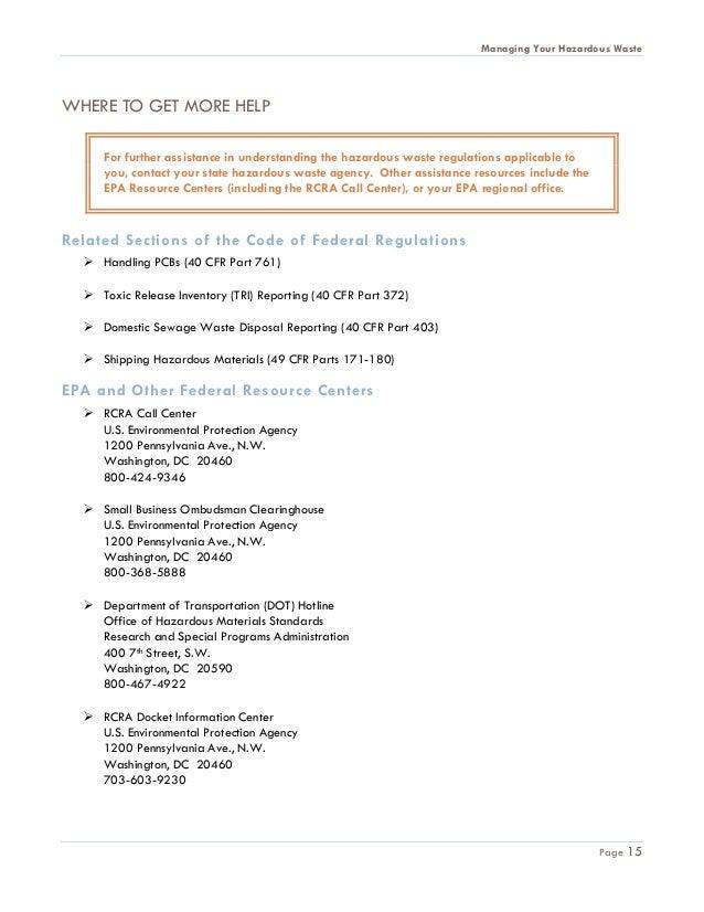 hazardous materials business plan regulations for booster