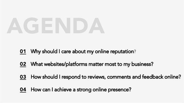 Managing Your Online Reputation (Yelp) Slide 2