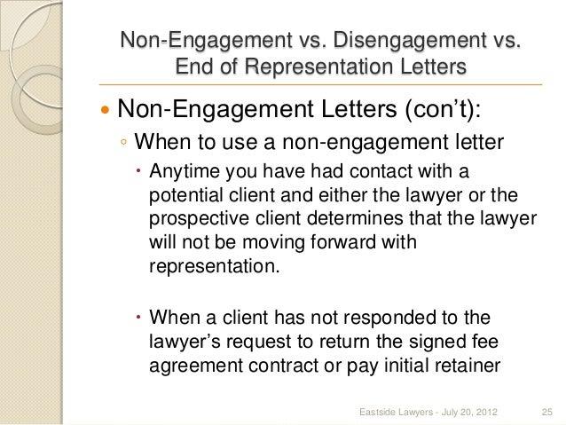 25 non engagement vs