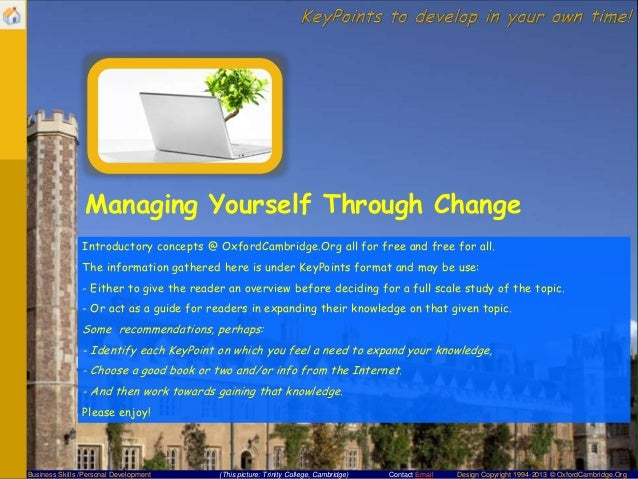 managing through change Managing through change by mtd training - free book at e-books directory you can download the book or read it online it is made freely available by its author and publisher.