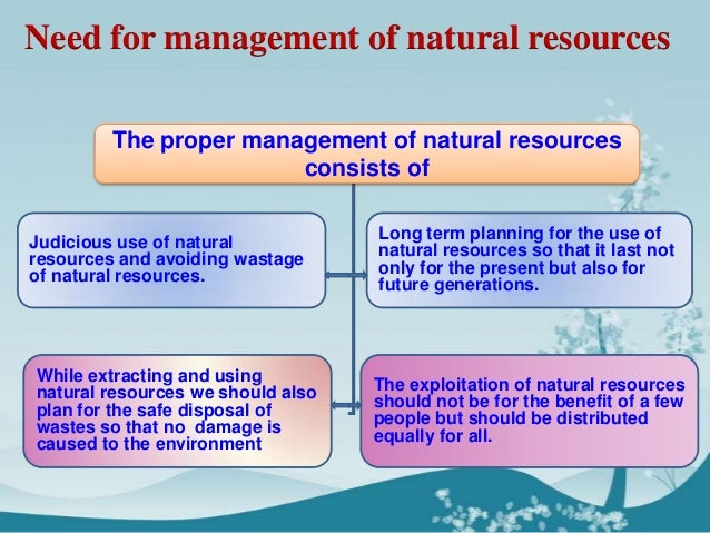 natural resources and management essay A major in natural resource management (nrm) promotes an awareness of the connection between environmental systems and the.