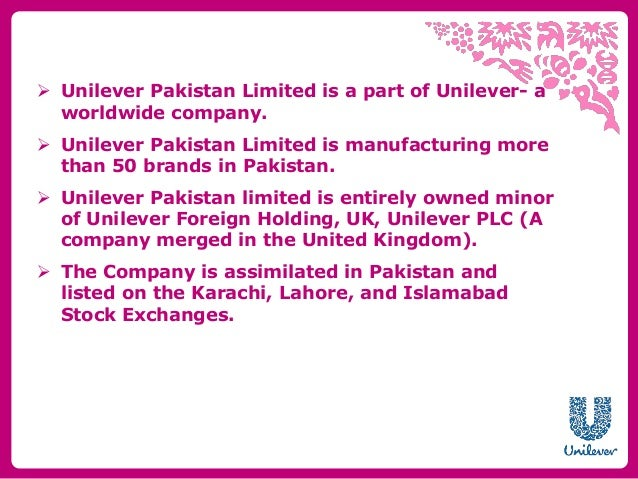 UNILEVER Organizations Detail