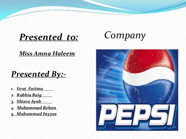 pepsico mission and objectives Vision and values for the adidas group,  they need to be anchored in the missions and objectives of core corporate functions business and.