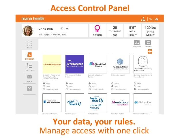 Access log See who's accessing your data. All in one place.