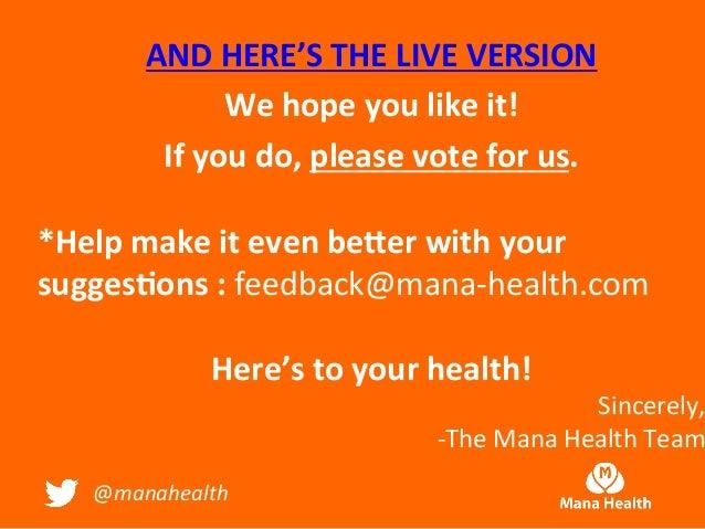 Mana health NY Patient Portal Presentation