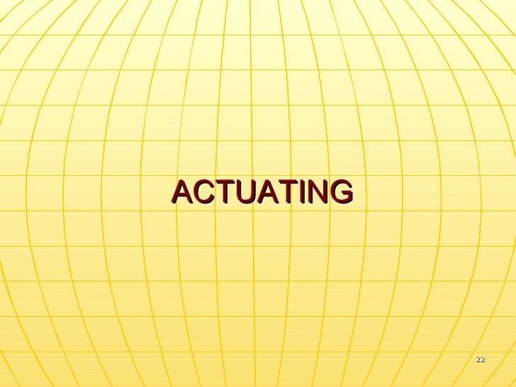 ACTUATING