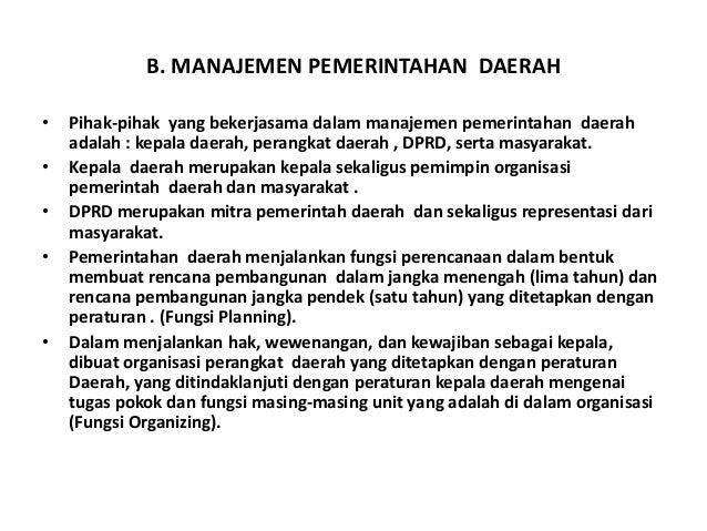 Manajemen dan kepemimpinan pemerintahan desa ( Filsafat ILmu )