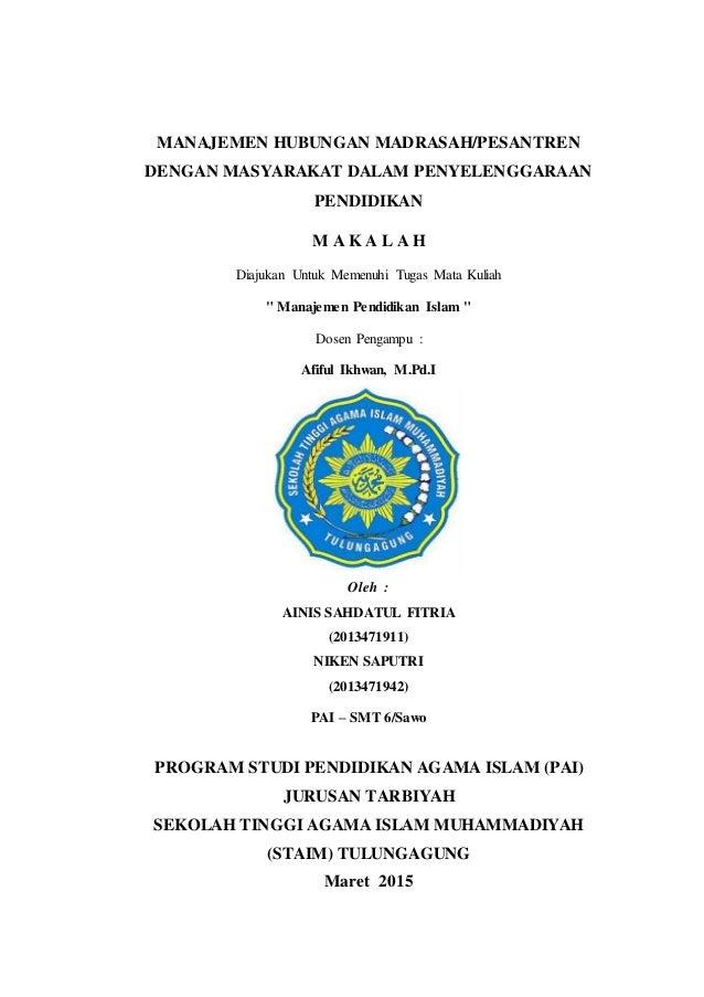 Manajemen Hubungan Madrasah Dengan Masyarakat Dalam Penyelenggaraan P