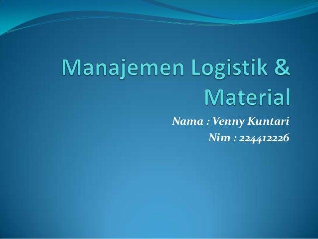 Nama : Venny Kuntari      Nim : 224412226