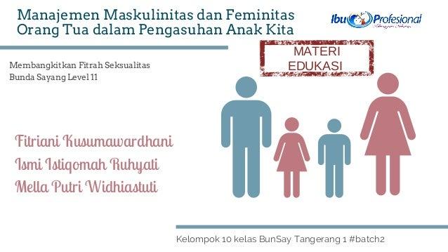 Membangkitkan Fitrah Seksualitas Bunda Sayang Level 11 Kelompok 10 kelas BunSay Tangerang 1 #batch2 Manajemen Maskulinitas...