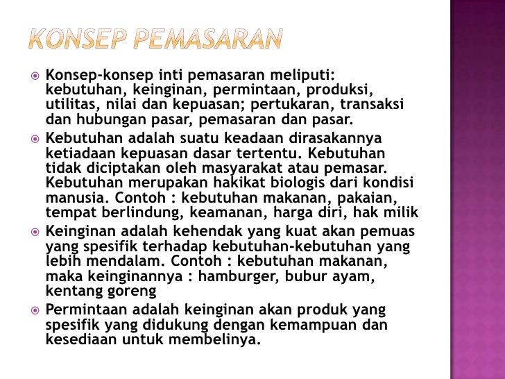 Kebutuhan,                    Keinginan dan                     PermintaanKonsep IntiPemasaran       Produk (Barang, Jasa,...