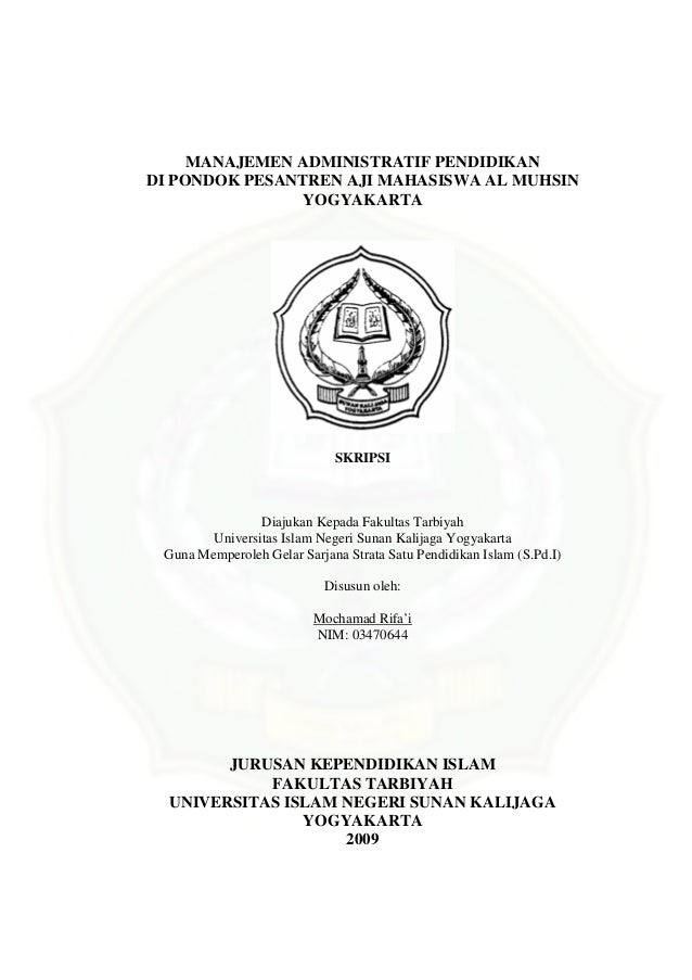Judul Skripsi Manajemen Pendidikan Islam Kualitatif Kumpulan Berbagai Skripsi