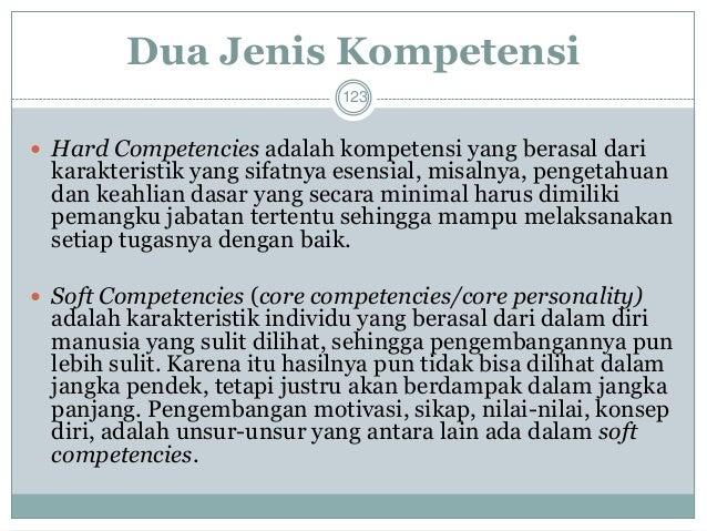 Tiga Jenis Kompetensi  124  1. Essential Competencies (Kompetensi Dasar)  -Sebagai fondasi dari pengetahuan dan keahlian y...