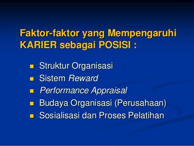 PERENCANAAN KARIER  Proses dimana Individu Menganalisis Minat, Bakat, Personalitas&Kapabilitasnya (sendiri) untukMencoba M...
