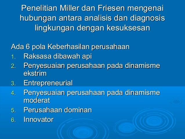 Penelitian Miller dan Friesen mengenaiPenelitian Miller dan Friesen mengenai hubungan antara analisis dan diagnosishubunga...