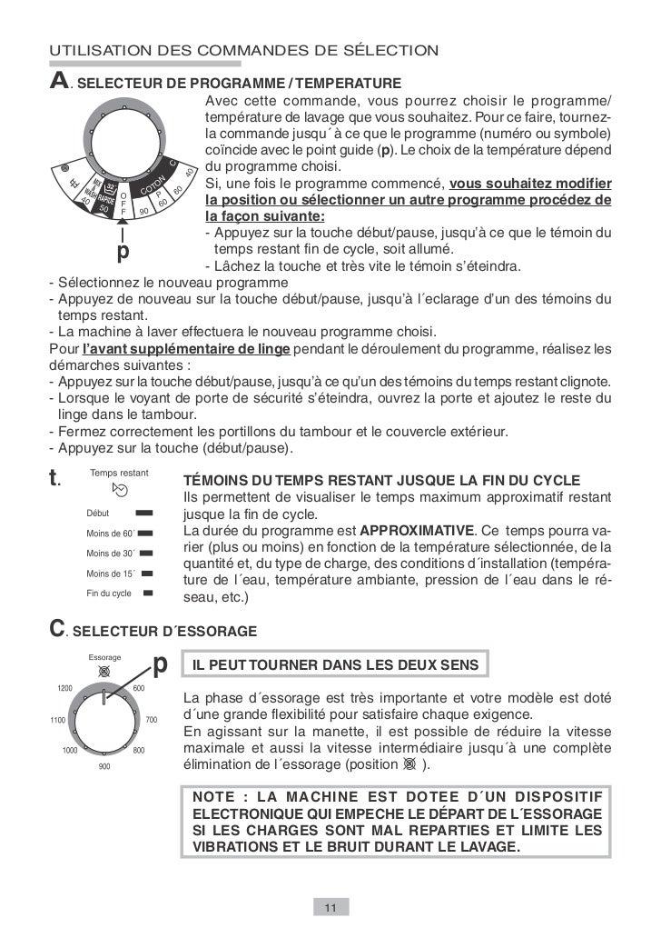 UTILISATION DES COMMANDES DE SÉLECTIONT. SELECTEUR «DEPART DIFFERE»                    IL PEUT TOURNER DANS LES DEUX SENS ...