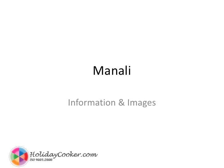 Manali<br />Information & Images<br />