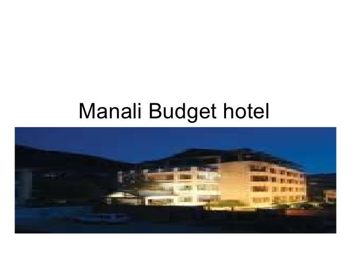 Manali Budget hotel