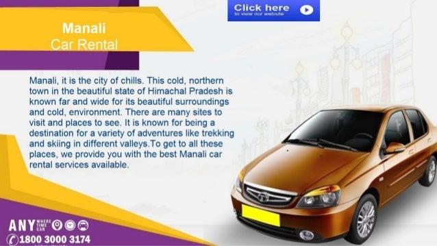 Manali car rental