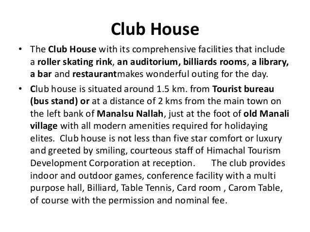 Club House • The Club House with its comprehensive facilities that include a roller skating rink, an auditorium, billiards...