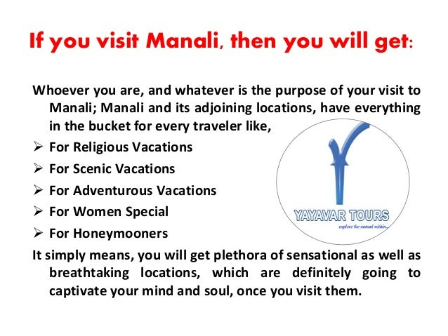 Book Manali Tour Packages India Slide 2
