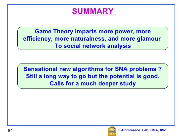 game theory summary and analysis Nevertheless, the game theorist has an upper hand: she can be certain that the model implies the explanation provided that assumptions are justified and she correctly derives conditions for equilibrium, equilibria or even no equilibrium in addition, she can also develop her analysis in a deductive and a.