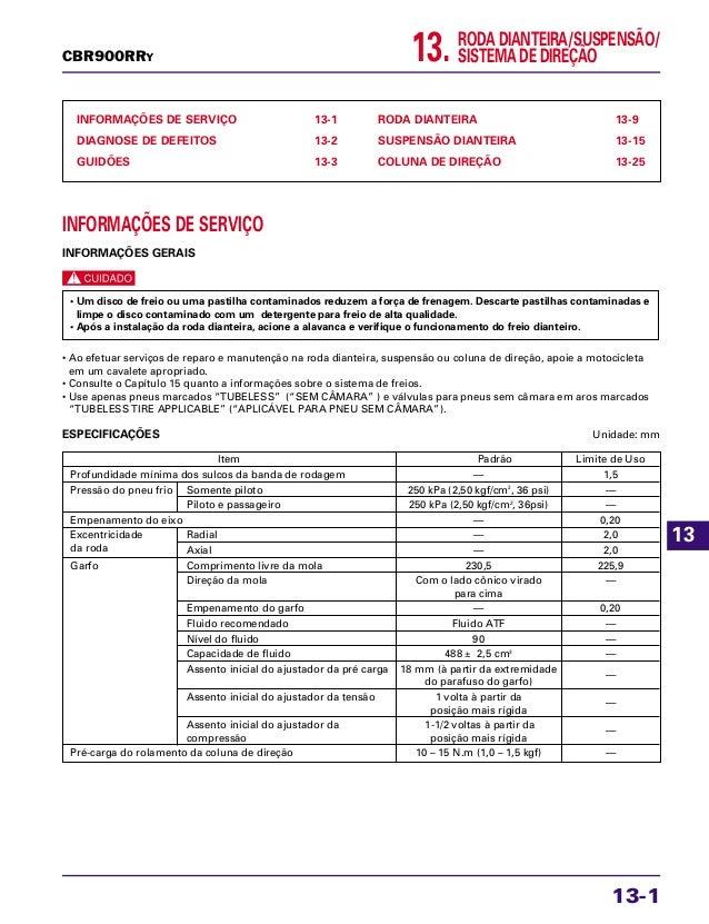 RODA DIANTEIRA/SUSPENSÃO/ SISTEMA DE DIREÇÃO13. INFORMAÇÕES DE SERVIÇO 13-1 DIAGNOSE DE DEFEITOS 13-2 GUIDÕES 13-3 RODA DI...