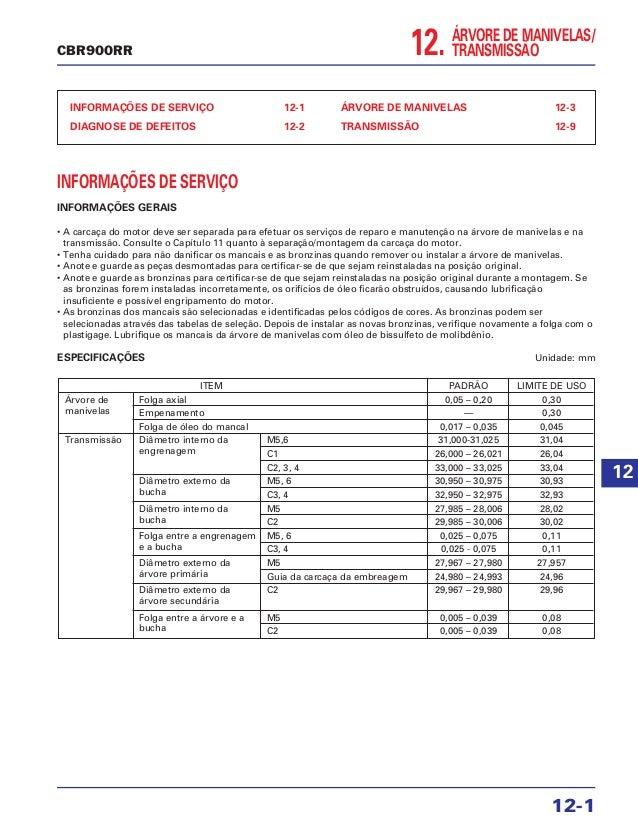 12. ÁRVORE DE MANIVELAS/ TRANSMISSÃO INFORMAÇÕES DE SERVIÇO 12-1 DIAGNOSE DE DEFEITOS 12-2 ÁRVORE DE MANIVELAS 12-3 TRANSM...